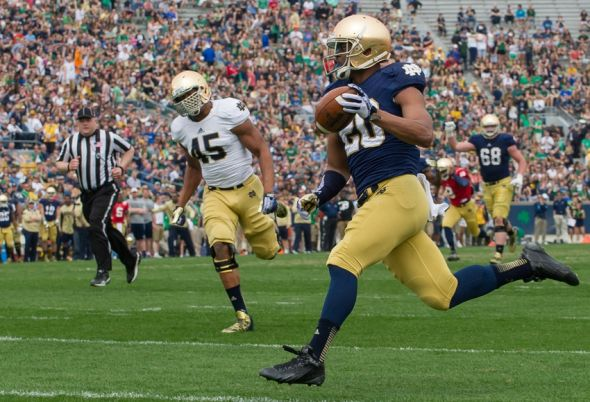 notre dame game today score college football length of game