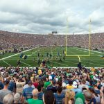Aug 30, 2014; South Bend, IN, USA; A general view of Notre Dame Stadium before the game between the Notre Dame Fighting Irish and the Rice Owls. Mandatory Credit: Matt Cashore-USA TODAY Sports