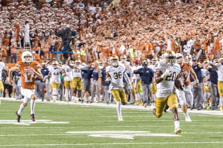 college football week 2 schedule who won the notre dame football game today