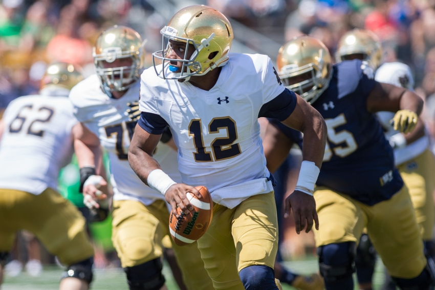 ncaa footbal games what was the score of the notre dame football game