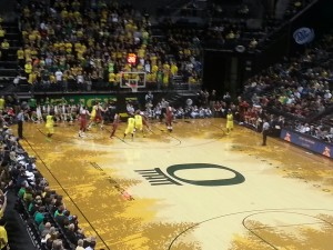 Oregon vs Stanford from Matthew Knight Arena in Eugene, Oregon // KPNW Sports