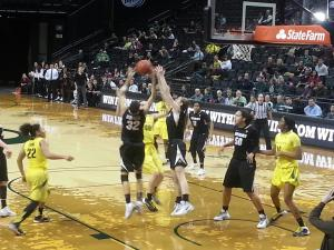 Oregon vs Colorado at Matthew Knight Arena, Eugene, Oregon, Monday, February 10th 2014. KPNW Sports