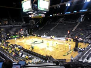 Oregon/Oregon State Pregame at Matthew Knight Arena, Eugene, Oregon 02/16/14 KPWNSports