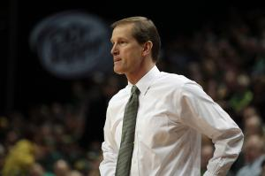 Jan 30, 2014; Eugene, OR, USA; Oregon Ducks head coach Dana Altman against the UCLA Bruins at Matthew Knight Arena. Mandatory Credit: Scott Olmos-USA TODAY Sports