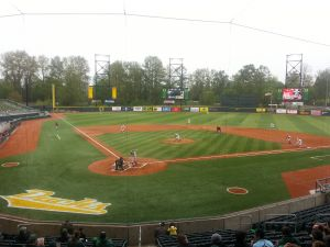 Oregon and Washington State at PK Park, April 17th 2014//KPNWSports