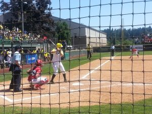 The Oregon Ducks take on the Wisconsin Badgers in the Eugene Regional. May 17th 2014/KPNWSports