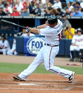 Brian McCann Launching a Two-Run Homer in 2010.
