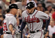 Freddie Freeman Hits Monster Two-Run Shot Versus Seattle