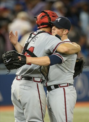 "Kimbrel: ""I CAN'T BREATHE!"" Mandatory Credit: Tom Szczerbowski-USA TODAY Sports"