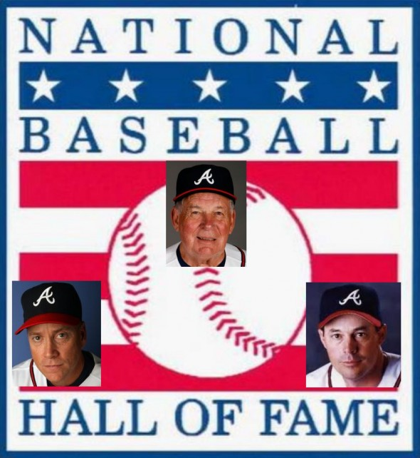 Bobby Cox, Tom Glavine and Greg Maddux head the 2014 Hall of Fame Class. Please credit Graphic created by Fred Owens