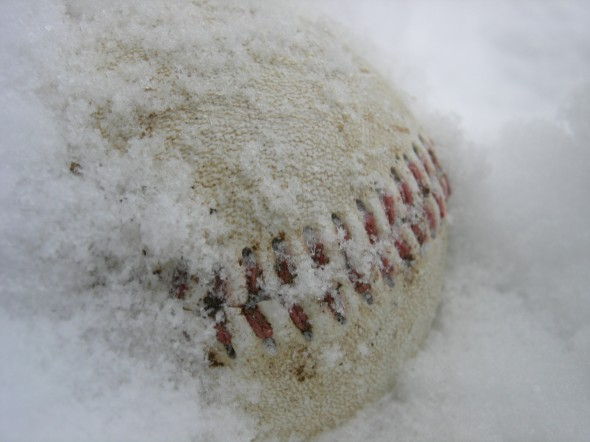 baseball-in-snow
