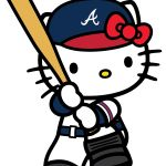 Hello Kitty Batting Image - Hello Kitty Atlanta Braves