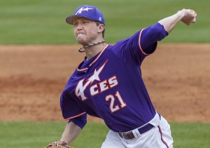 Kyle Freeland (Steven Harris photo) http://www.baseballamerica.com/college/game-report-evansvilles-kyle-freeland/