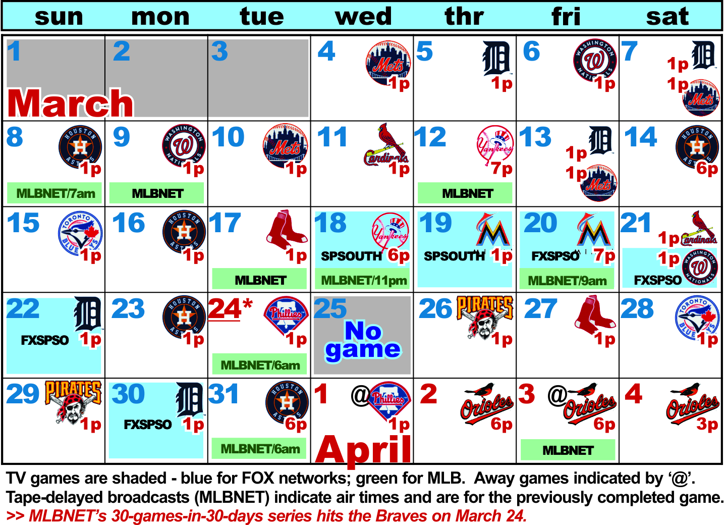 It is a photo of Impeccable Braves Printable Schedule