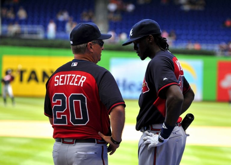 Kevin-seitzer-cameron-maybin-mlb-atlanta-braves-miami-marlins-768x0