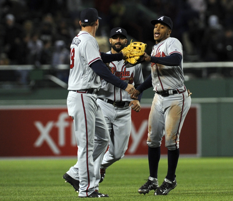 Nick-markakis-jeff-francoeur-mallex-smith-mlb-atlanta-braves-boston-red-sox