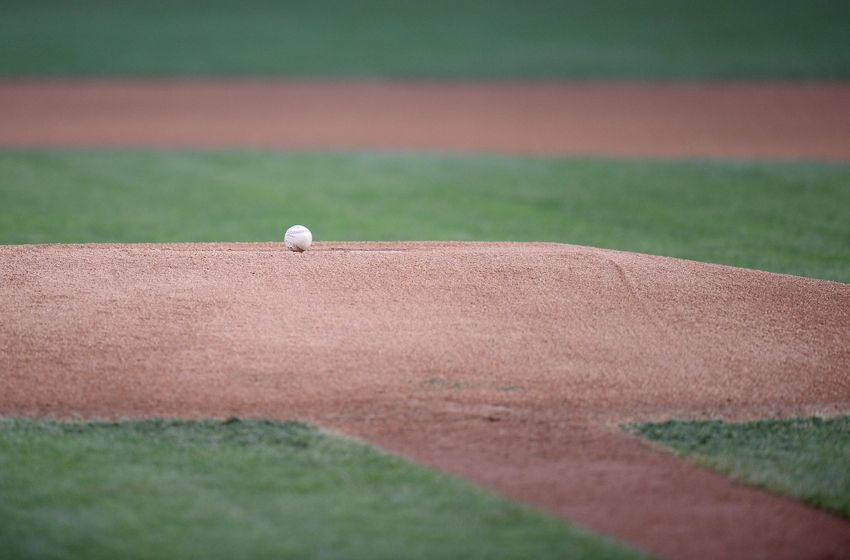 Apr 28, 2016; Phoenix, AZ, USA; A ball sits on the mound prior to the game between the Arizona Diamondbacks and the St. Louis Cardinals at Chase Field. The Diamondbacks won 3-0. Mandatory Credit: Joe Camporeale-USA TODAY Sports