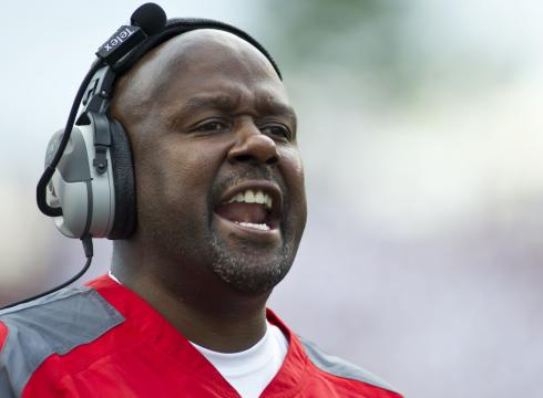 Maryland offensive coordinator Mike Locksley signed a three-year extension on Tuesday. (Mandatory Credit: Beth Hall/U.S. Presswire)