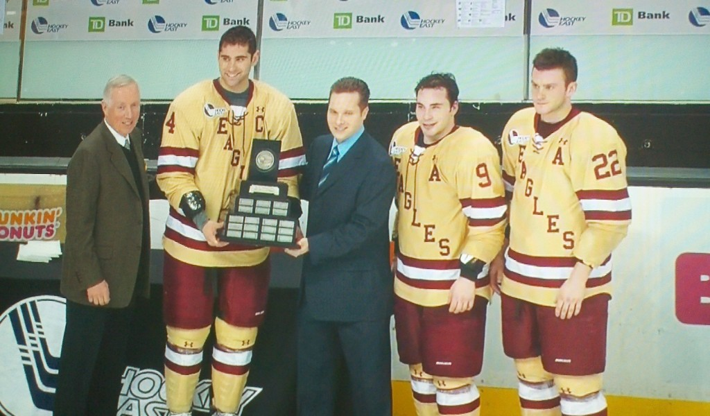 BC hockey Lamoriello trophy 2012