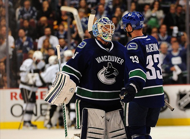 NHL: Stanley Cup Playoffs-Los Angeles Kings at Vancouver Canucks
