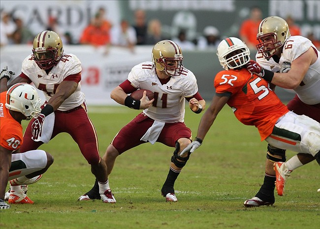 NCAA Football: Boston College at Miami