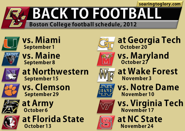 Boston College Football Schedule 2012
