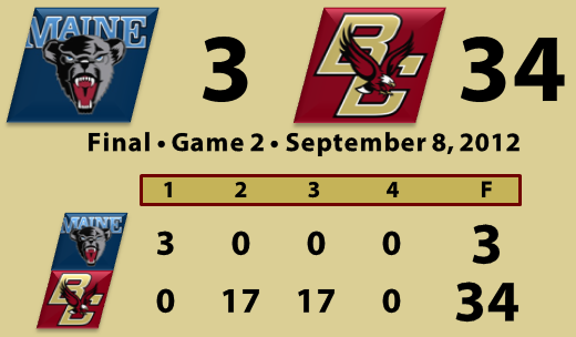 BC beats Maine football 9.8.12