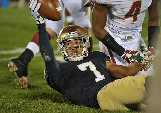 NCAA Football: Boston College at Notre Dame