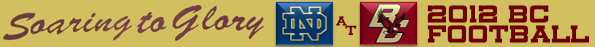 BC-Notre Dame Football 2012