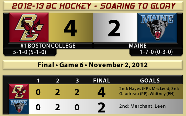 BC beats Maine hockey 11.2.12