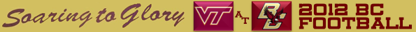 Virginia Tech-Boston College Football 2012