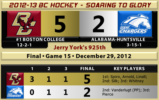BC beats UAH hockey 12.29.12 -- Jerry York 925