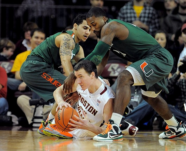 NCAA Basketball: Miami-Florida at Boston College