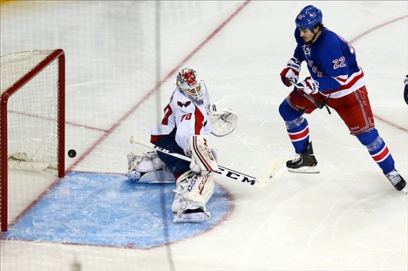 NHL: Stanley Cup Playoffs-Washington Capitals at New York Rangers