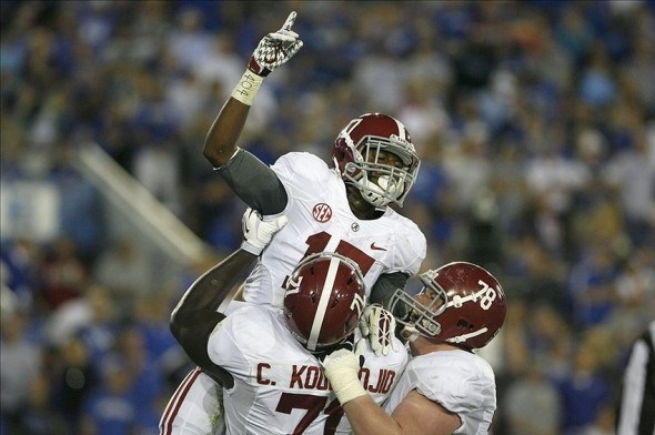 NCAA Football: Alabama at Kentucky