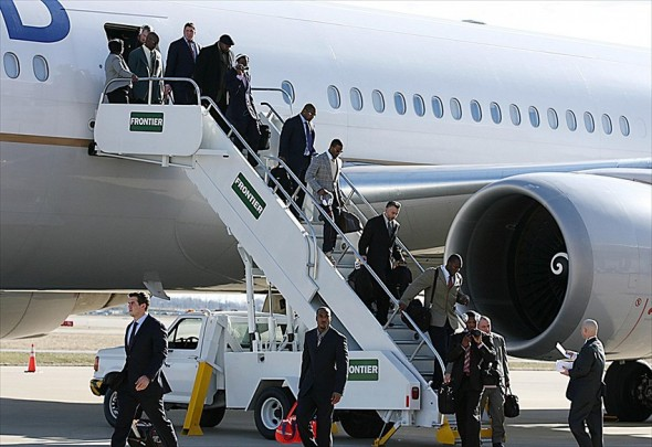 NFL: Super Bowl XLVI-New York Giants Arrival