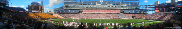 Gillette Stadium: Boston College at UMass in Pictures