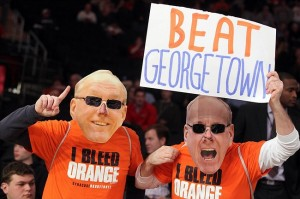 Syracuse Fans came out in droves for years to support Jim Boeheim and Syracuse Basketball as they took on Big East Rivals (like Georgetown) in the Big East Tournament at Madison Square Garden. Mandatory Credit: Brad Penner-USA TODAY Sports