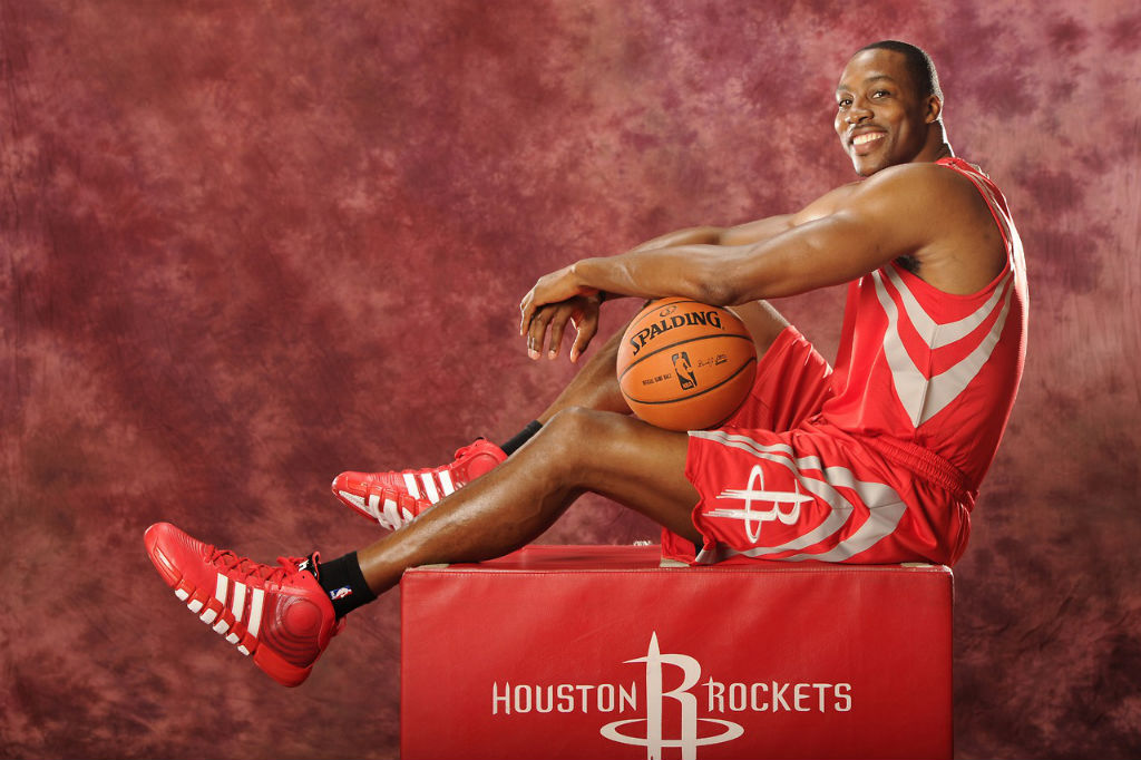 Dwight Howard's Rockets introductory photo shoot