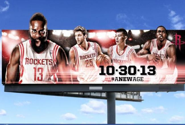 The Houston Rockets new billboard unveiled in September