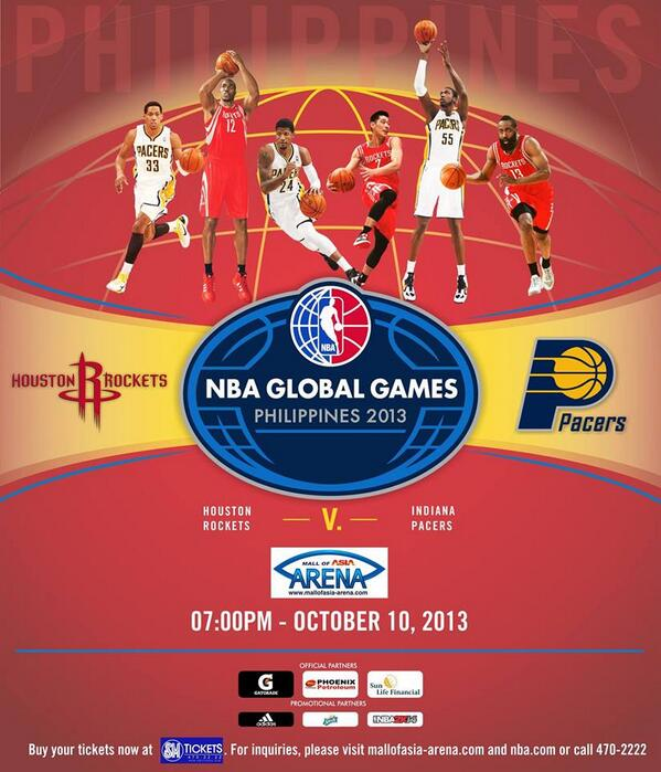 The Houston Rockets and Indiana Pacers Are Set To Face Off October 10 in Manila, Philippines