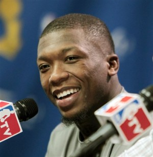 Nate Robinson Introduced As A Denver Nugget (July 2013)