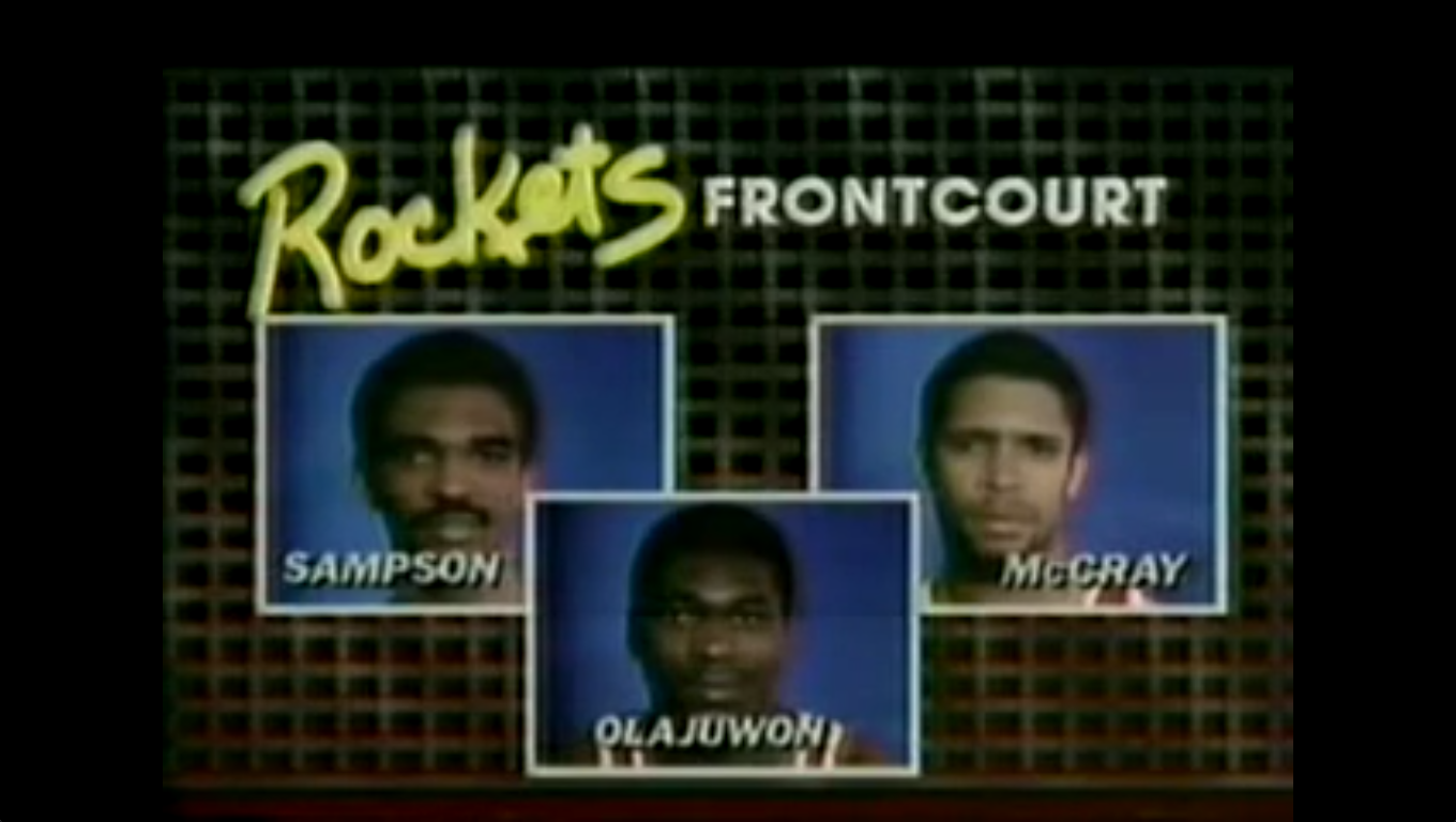 Rockets Frontcourt: Sampson, Olajuwon, McCray