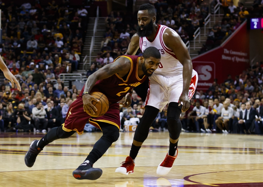 26088d85888 James Harden outshines Kyrie Irving in Houston Rockets Loss
