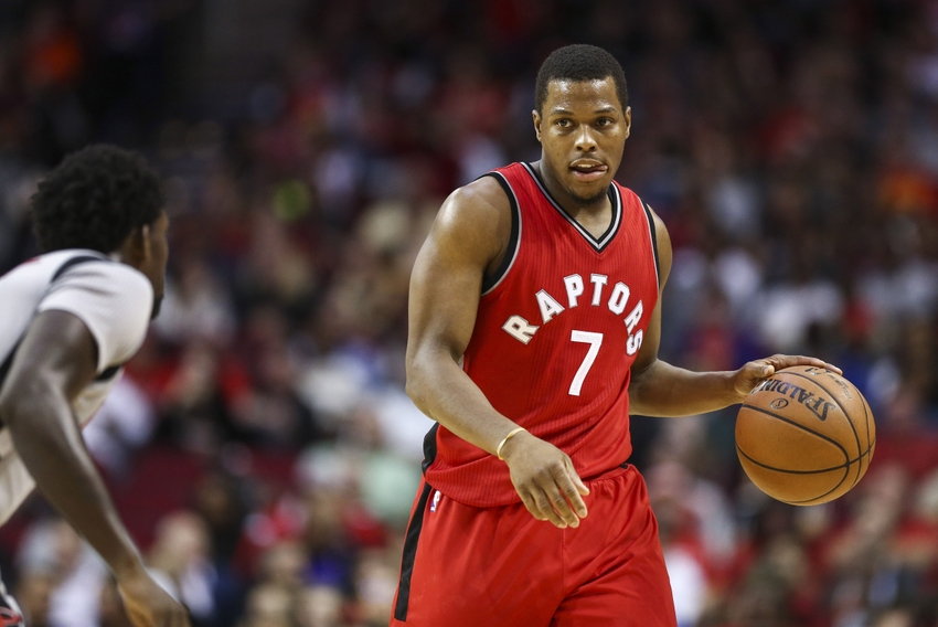 Nov 23, 2016; Houston, TX, USA; Toronto Raptors guard Kyle Lowry (7) brings the ball up the court during the third quarter against the Houston Rockets at Toyota Center. Mandatory Credit: Troy Taormina-USA TODAY Sports