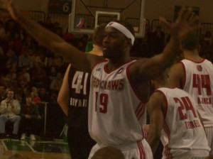 Mario West in action during a January 2nd game against Erie. West is now headed back to the NBA.