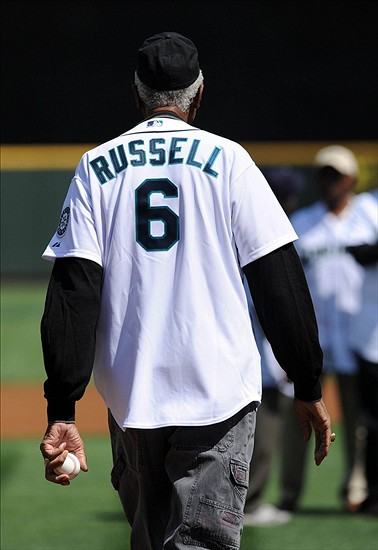 Bill Russell at Mariners Game