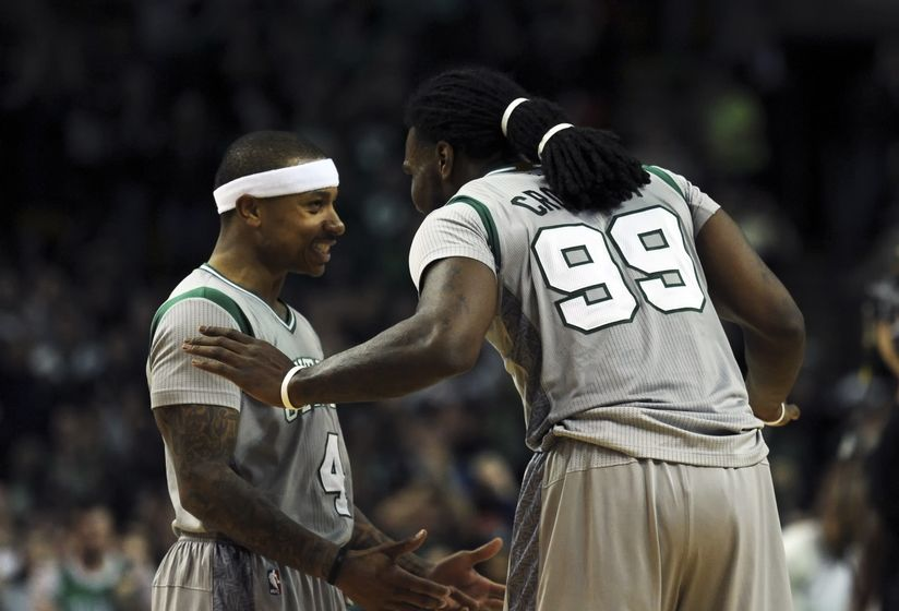 Image result for isaiah thomas jae crowder