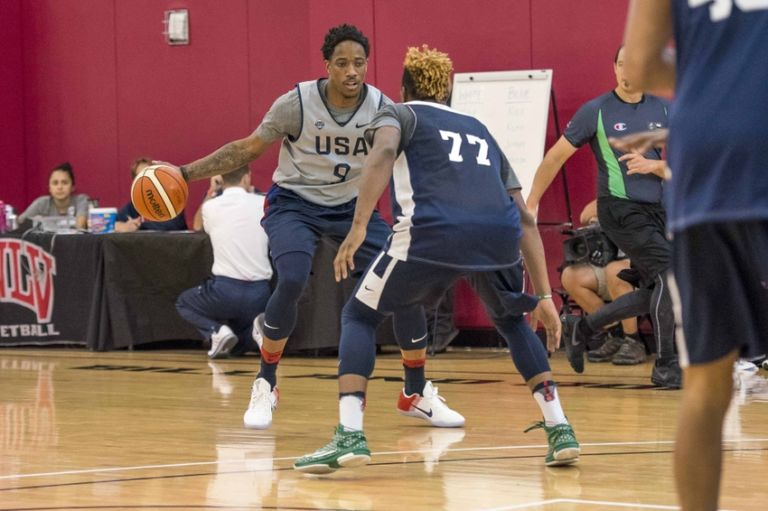 Marcus-smart-demar-derozan-basketball-usa-basketball-training-768x511