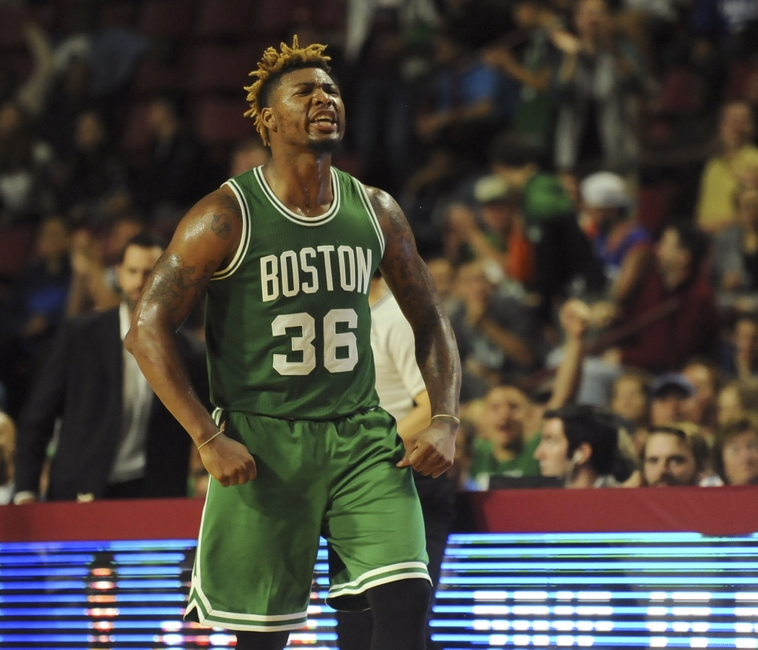 ... 36 Marcus Smart 2015-16 Green Christmas Jersey  rome 86467 04502 ...  2016 Amherst 387aa4d71
